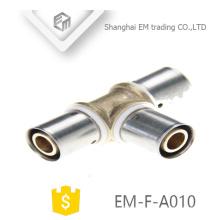 EM-F-A010 Reduzierstück aus Messing mit Reduzierstück, mit Widerhaken und Druckverschraubung