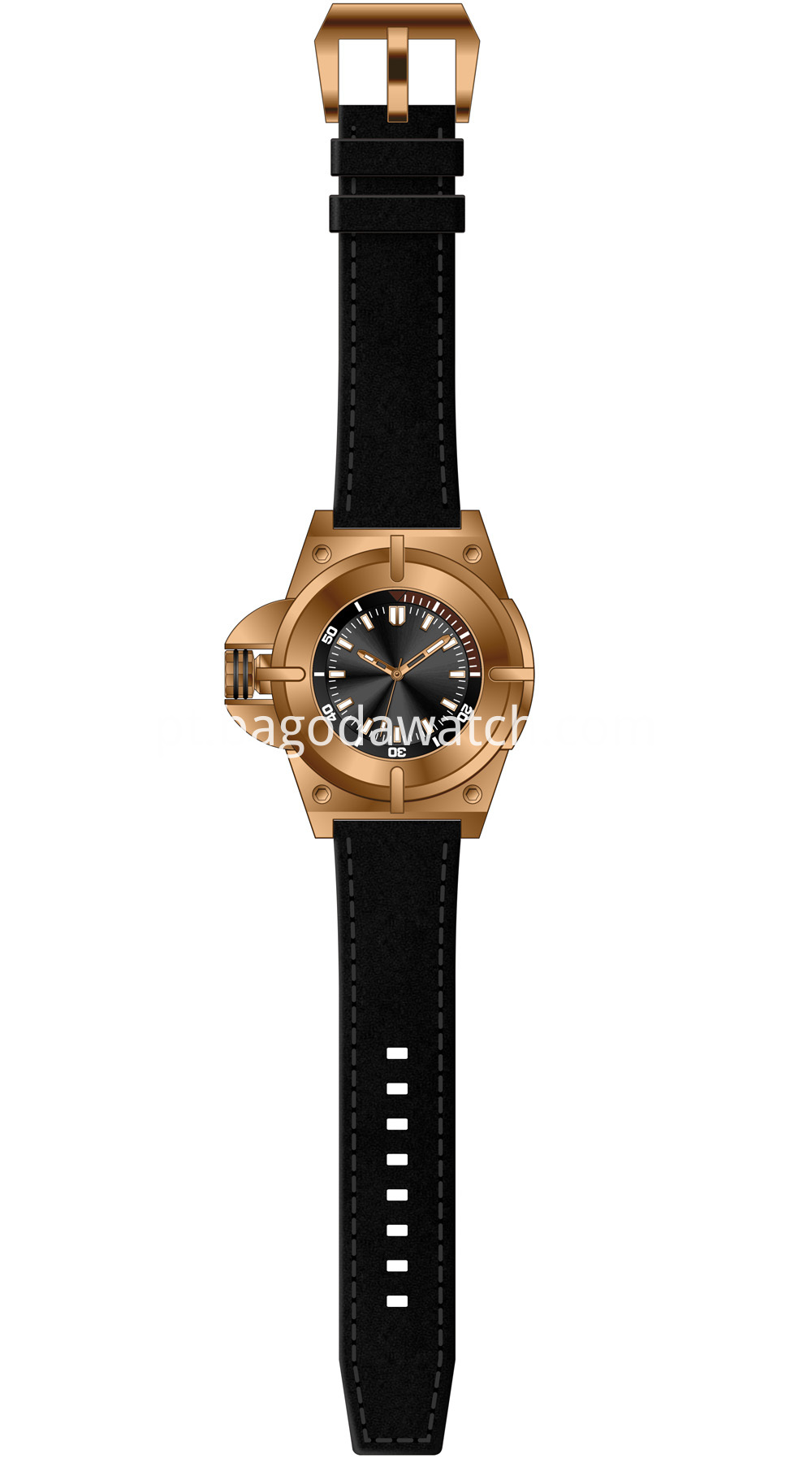 Gold Titanium Watch