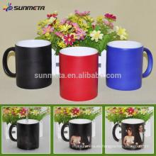 Sunmeta venta entera 11oz en blanco sublimación color cambiando taza mate