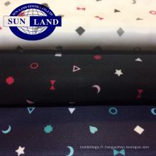 Tissu en maille birdeye imprimé pour vêtements d'enfants 100% polyester