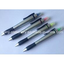 Textmarker mit Kugelschreiber Kunststoff Highlighter für Promotion (H202)