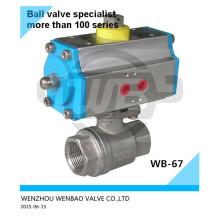 Válvula de bola accionada neumáticamente Ss316L 11/2 pulgadas 1000 psi