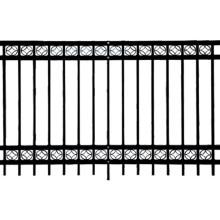 Fabrication d'une clôture en acier décoratif revêtu de PVC