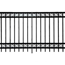 Manufacturer Assembling PVC Coated Decorative Steel Fence