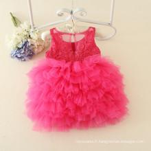 robes de soirée de haute classe styles exclusifs pour 1 an fille bébé rouge conçu filles de fleurs robes de mariage anniversaire fête de noël