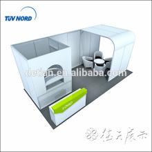 Exposição da cabine da exposição da tela da tensão 10x20 com quarto de armazenamento e quarto grande dos arcos