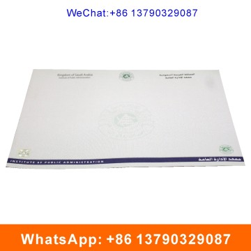Degree Certificate with Watermark and Hot Stamping Label