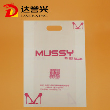 Pink HDPE Die Cut Bag for Garment