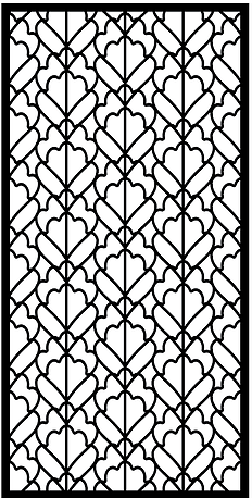 Laser Cut Steel Decorative Panel