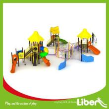 Parque de diversões Grand Adventure Kids Long Tube Slides / Playground ao ar livre com escalada estruturas