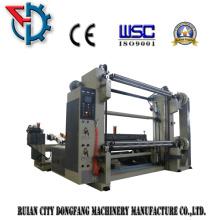 Máquina cortadora y rebobinadora para rollo de papel grande
