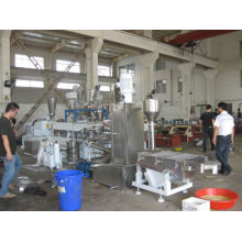 PE filler masterbatch 85% caco3 twin screw extruder