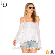 Été Ajustable soleil-top coton Sexy girl Robe blanche Été Ajustable soleil-top coton Sexy girl Robe blanche