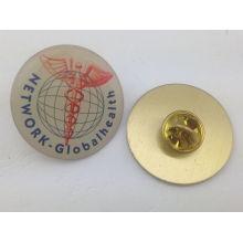 Cuadrado latón epoxi goteo Pin de solapa, insignia personalizada (GZHY-YS-006)