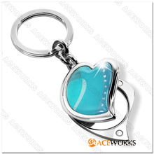 Fashion Key Chain With Compact Mirror
