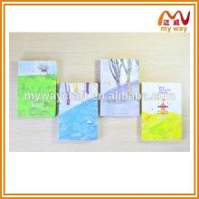 Caderno colorido de capa de desenho animado, impressão de caderno personalizado