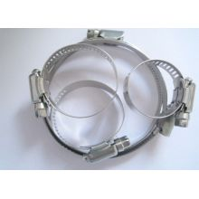 """65 - 90mm American Hose Clamp 6"""" Worm Dirve For Sewage Treatment"""