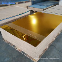 Guangzhou 1mm 6mm window wall decoration plexiglass double sided gold mirror acrylic sheet