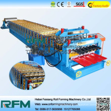 FX roof and wall steel plate double layer roll forming machine