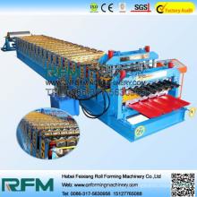 FX telha e placa de aço de parede máquina de formação de rolo de camada dupla