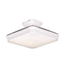 Lampe de ventilateur carrée blanche de 43 pouces avec lumière