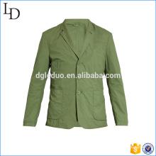 Notch-lapel cotton mens casual blazers slim fit western blazer suit