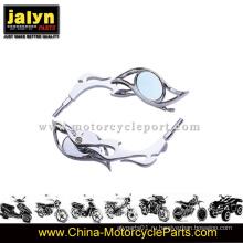 Высококачественное зеркало заднего вида с хромированной отделкой для мотоцикла подходит для универсальных