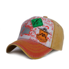 Denim applique children baseball cap