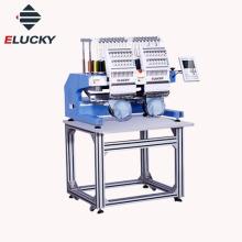 Tajima tipo Elucky novas 15 cores de alta velocidade duas cabeças máquina de bordar na venda quente