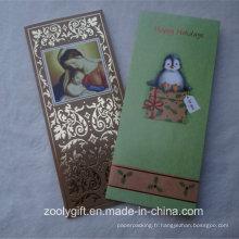 Motif Feuillet d'or Stamping Texture Paper Paper Cartes de voeux