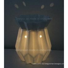 Calentador eléctrico translúcido de la vela de la luz del LED con el regulador alejado