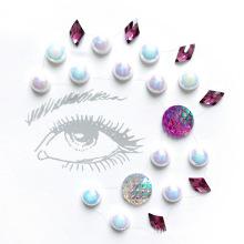 Etiquetas engomadas autas-adhesivo cristalinas de encargo de la joyería de la cara de la cara del brillo, etiqueta engomada cristalina de las gemas de la cara