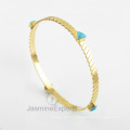 Wholesale Supplier For Arizona Turquoise Gemstone Bangle, 18k Gold Bangles For Women