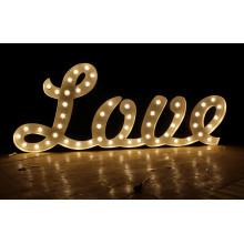Carta de la bombilla para Love Wending