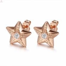 Personnalisé Dubai Gold Crystal Stud boucles d'oreilles ensembles de bijoux Design