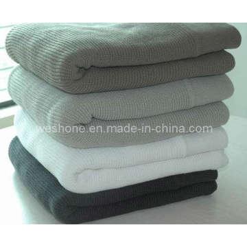 100 % coton doux tricot couverture