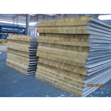 50 mm dik 60 kg / m3 Density Rockwool-wandpaneel