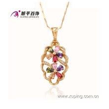 Mode Xuping élégant or plaqué bijoux en alliage fleur pendentif avec diamant CZ - 30703