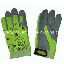 Cuero sintético Spandex Lady jardinería trabajando guantes de flores