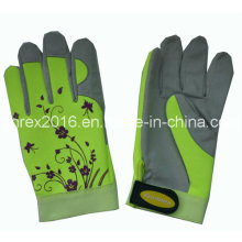 Synthetic Leather Spandex Lady Gardening Working Flower Gloves