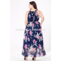 2017 Guangzhou Großhandel Frauen Abendkleid Plus Size Chiffon Langes Kleid