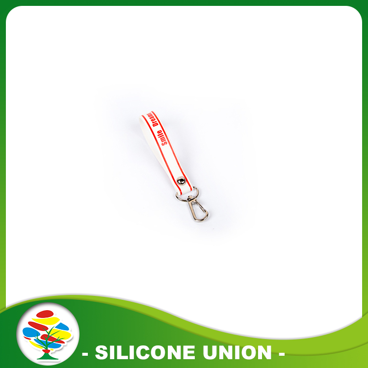 Print red Silicone Keychain