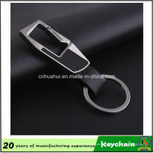 Hottest Custom Metal PU Leather Keychain