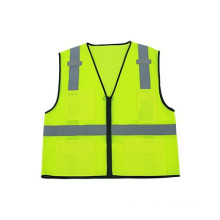 ANSI/ISEA fluorescent vests,100% polyester mesh zipper closure 3Mreflective running safety vests