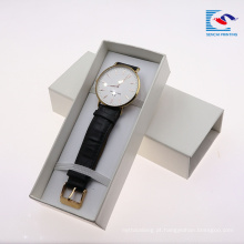 o sencai personalizou a inserção de EVA do preto da caixa de papel da cinta do relógio de pulso da impressão