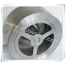 """Válvula de retenção de extremidade de flange de wafer de disco único de 4 """"(150 lb)"""