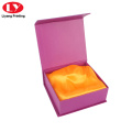Purple color gift jewelry box packaging