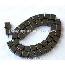 10MM Loose Magnetic Hematite Square Beads 16""