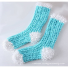 Winter Super Warm Feather Garn dicken Boden Socken (WA808)