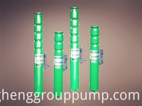 Blade wheel type single stage submersible pump